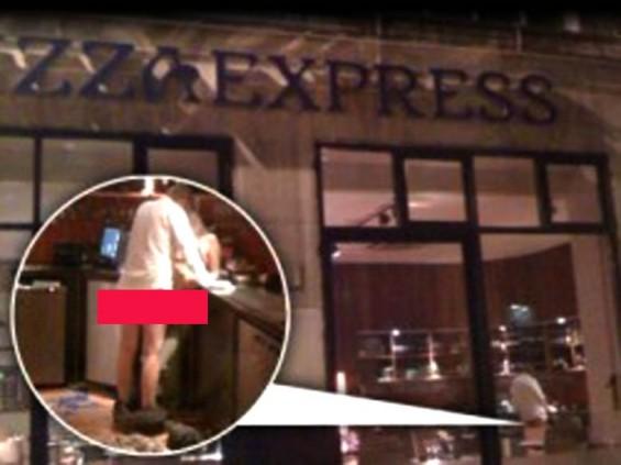 ... kekasih tertangkap kamera sedang bercinta di restoran ramai pengunjung
